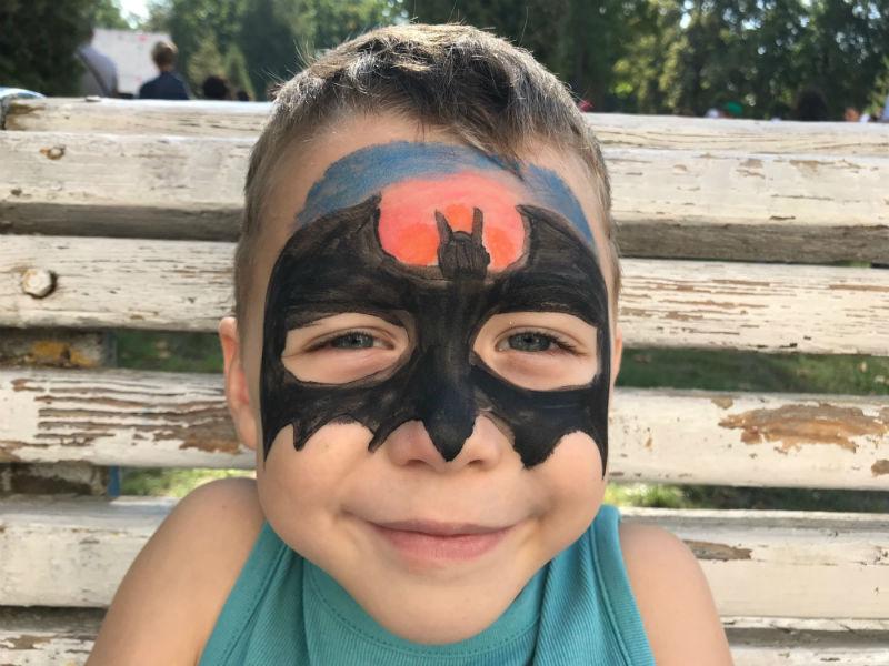 Аквагрим для мальчика - Бэтмен