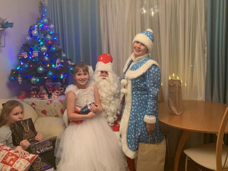Поздравление Деда мороза и снегурочки на дом