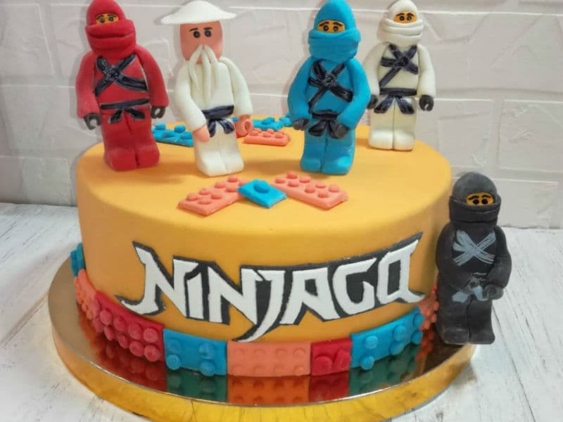Тематический торт Лего Ниндзяго (Lego Ninjago)