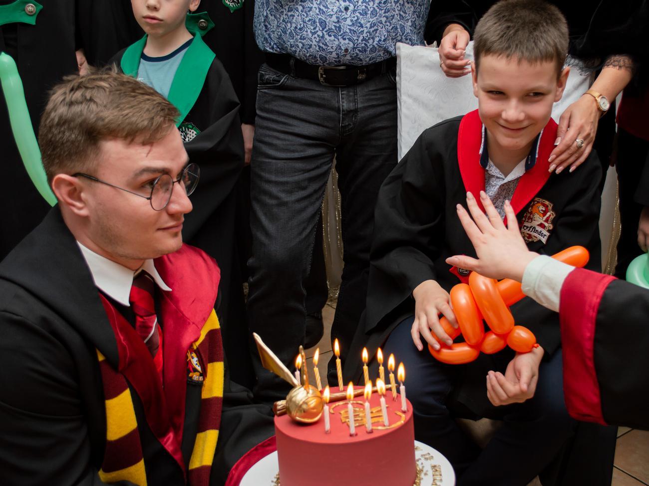 Торт на день рождения с Гарри Поттером