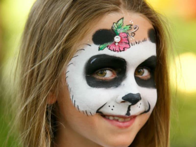 Аквагрим панда - мастер-класс