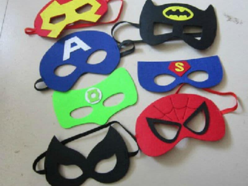 Маски разных супергероев из фетра