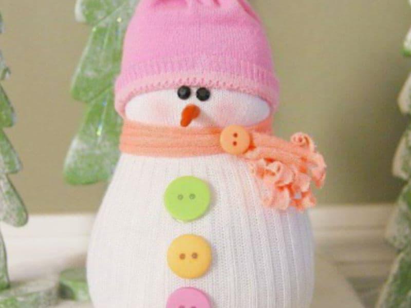 Носочные снеговики - мастер-класс от Ивент агентства Syrup
