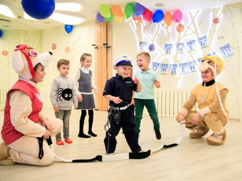 Аниматоры  Щенячий патруль с детками на день рождения