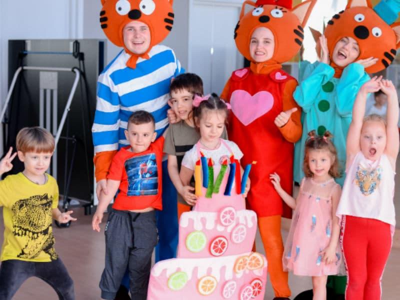 Детские аниматоры Карамелька, Коржик и Кампот