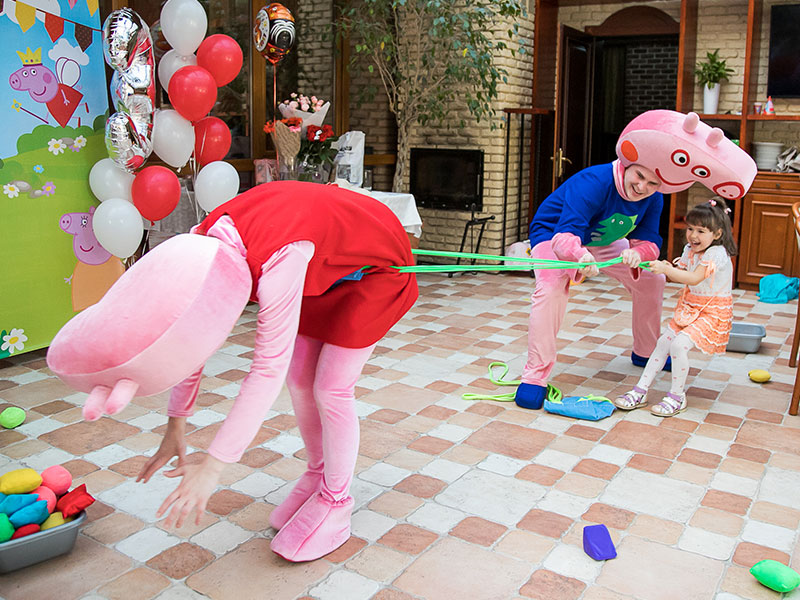 Праздник для детей в стиле Свинка Пеппа