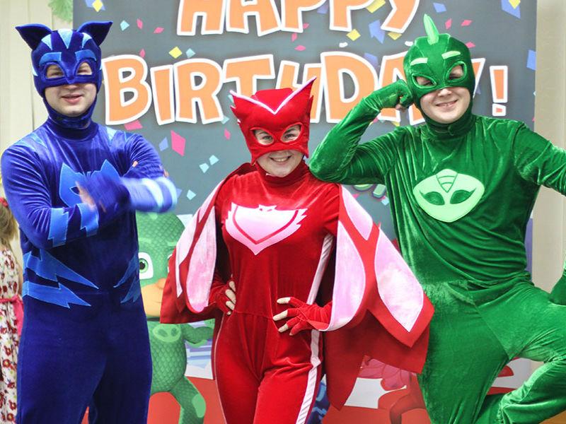 Детский день рождения с Героями в масках от Ивент агентства Syrup