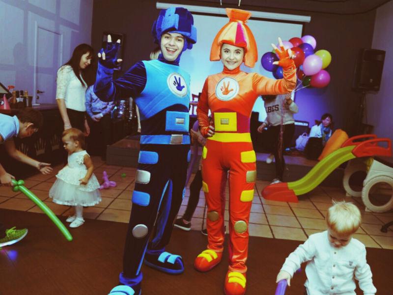 Аниматоры Фиксики на детский праздник-08